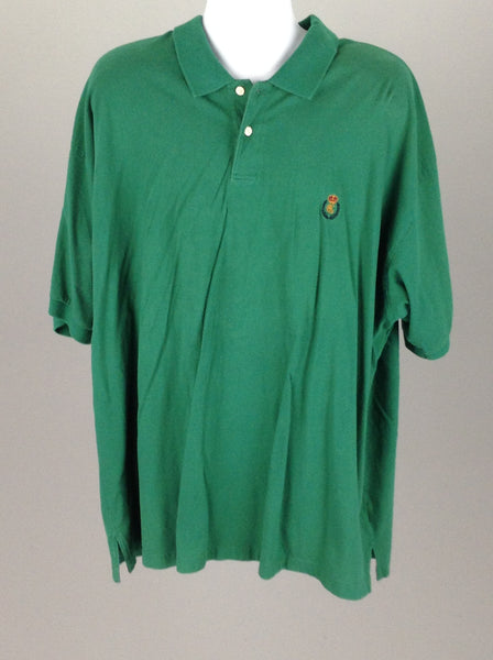 Green Plain Casual Polo Shirt, Size: 2X-Large