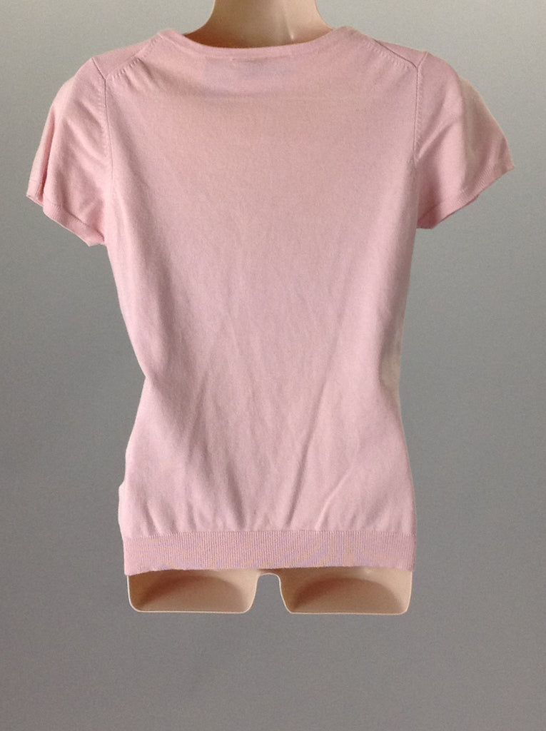 Attention Pink 70% Rayon 30% Nylon Plain Traditional Blouse Size: Medium