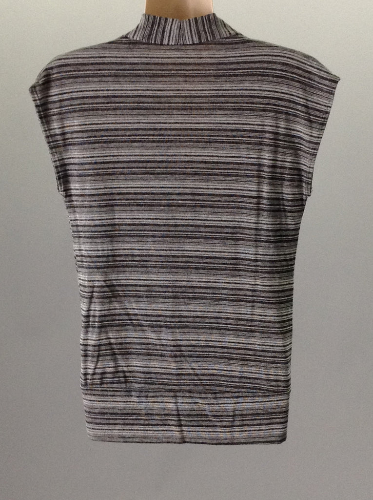 Robin K Gray 65% Polyester 35% Rayon Striped Traditional Blouse Size: 18