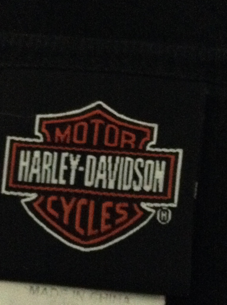 Harley-Davidson Black 100% Cotton Printed Design T-Shirt Size: Medium