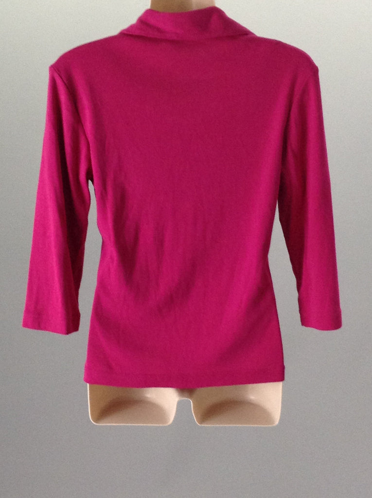 Fiorlini International 65% Polyester 35% Cotton Traditional Blouse Size: Small