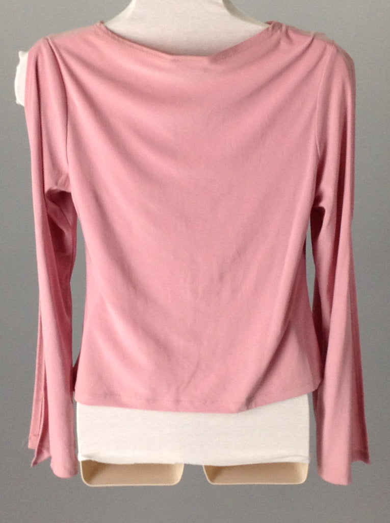 ENT Pink 95% Polyester 5% Spandex Plain Traditional Blouse Size: 2