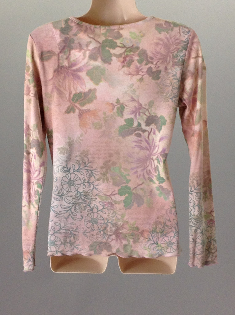 Xcit USA Pink Floral Pattern Traditional Blouse Size: 2