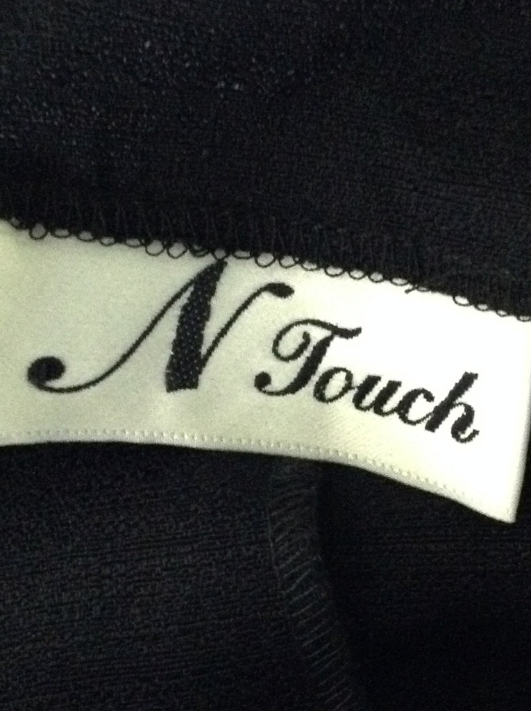 N touch Black Plain Button Down Shirt Size: 10
