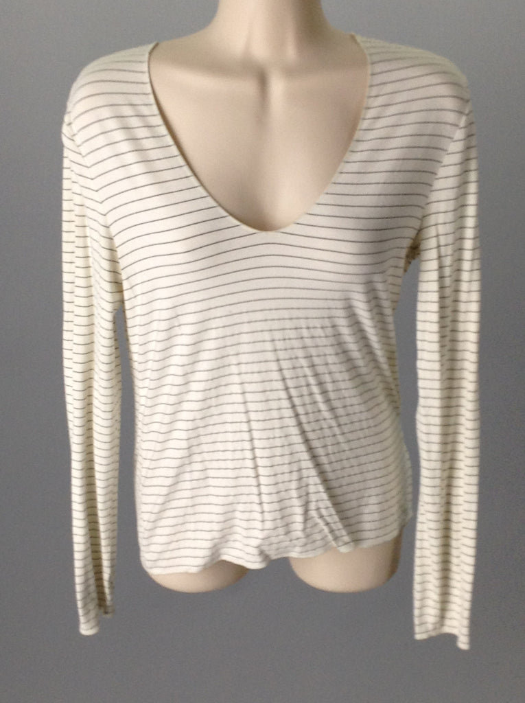 Banana Republic 90% Rayon 10% Spandex Striped Traditional Blouse Size: Small