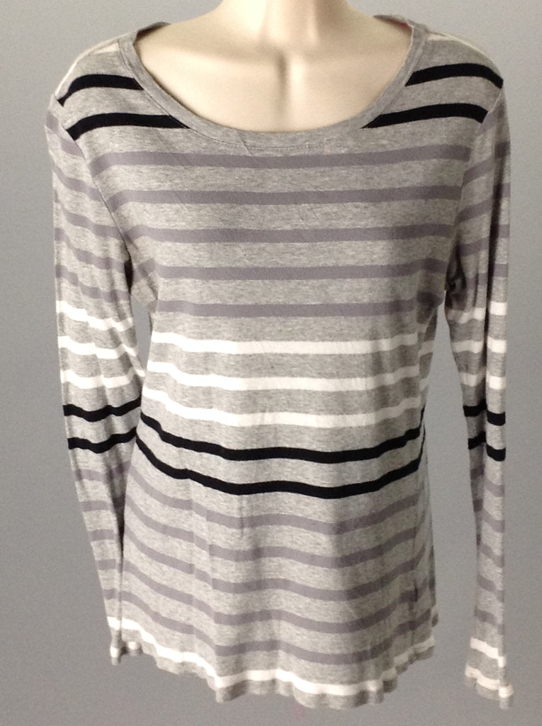 Old navy Multicolor 100% Cotton Striped Knit Top Size: Medium