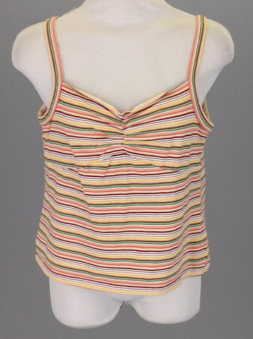 Multicolor Striped Camisole, Size: Large