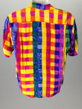 Ann May Multicolor 100% Silk Bright-Vibrant Traditional Blouse Size: 12 R