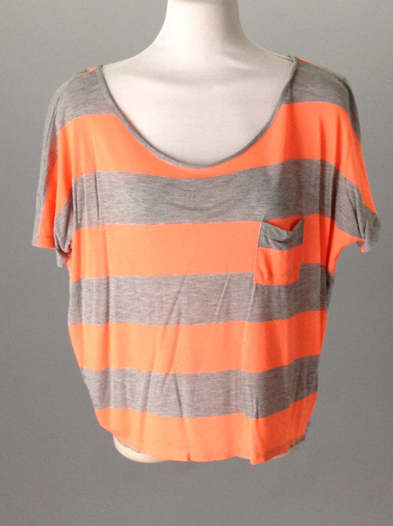 One Clothing Orange Striped Knit Top Size: Medium