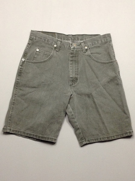 Gray 100% Cotton Plain Denim Shorts, Size: 30 R