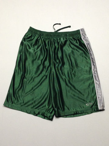 Green 100% Polyester Plain Athletic Shorts, Size: Medium