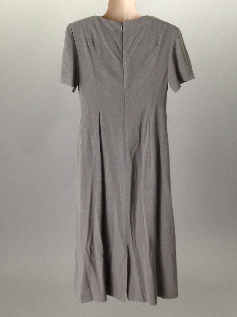 Talbots Gray Casual Traditional Dress Size: 10 R
