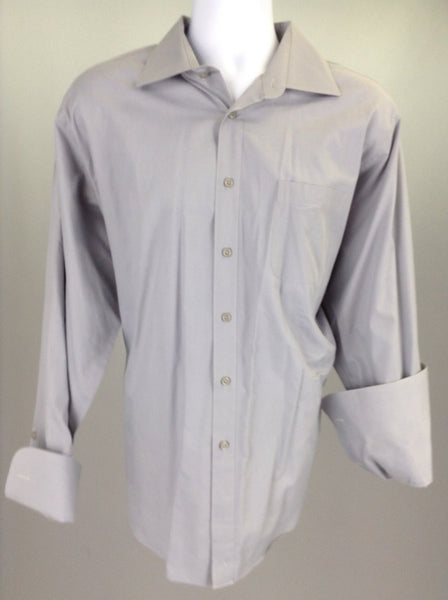 Gray Plain Dress Shirt, Size: 17.5 34/35 R