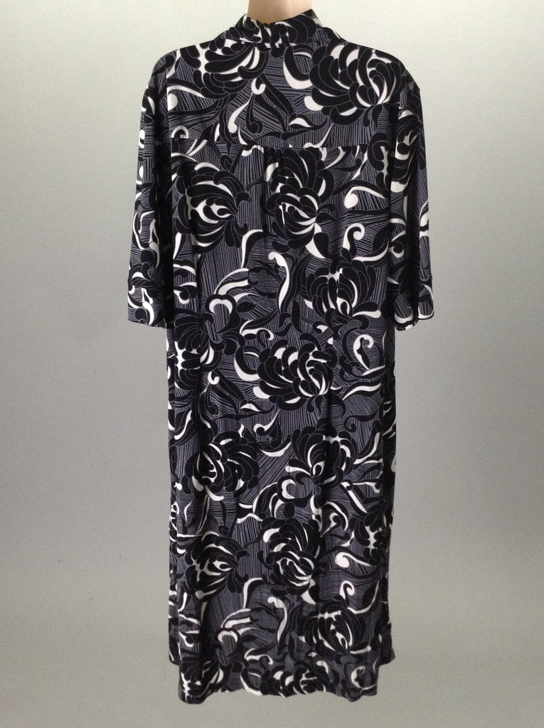 Harve Benard Black Pattern Casual Traditional Dress Size: 12
