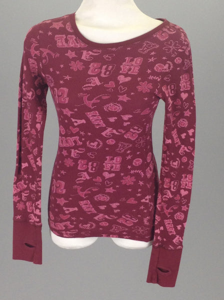 Purple Funky Thermal shirt, Size: X-Small