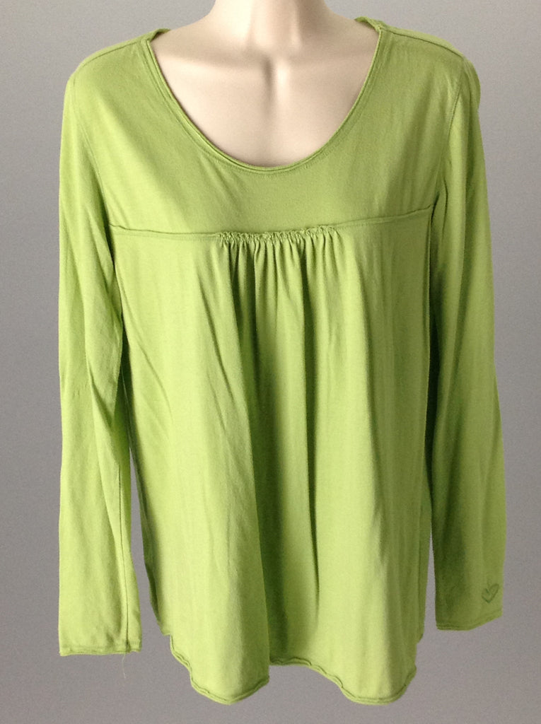 kirra Green 60% Cotton 40% Polyester Plain Tunic Top Size: Large