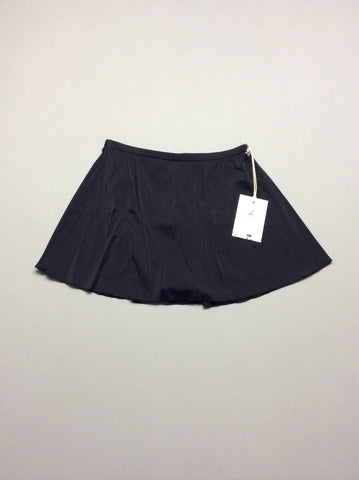 Black 80% Nylon 20% Spandex Plain Skirted Bottom Only, Size: 14 R