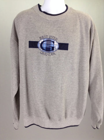 Gray Best ever Gr Sweatshirt, Size: X-Large
