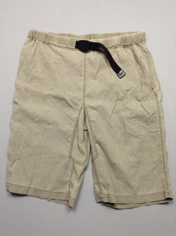 Brown Plain Casual Shorts, Size: Large