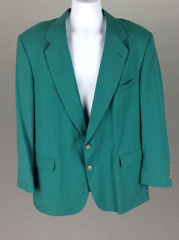 Green Bright-Vibrant 2-Button Blazer, Size: 46 BT