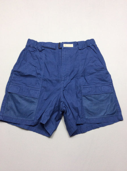 Blue 100% Polyester Bright-Vibrant Athletic Shorts, Size: Medium