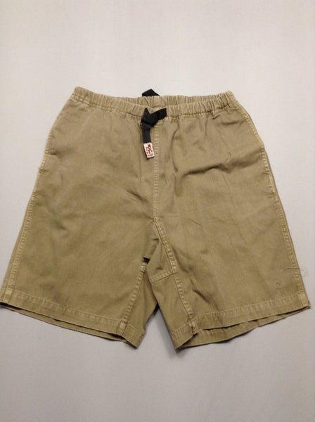 Brown 100% Cotton Plain Casual Shorts, Size: Medium