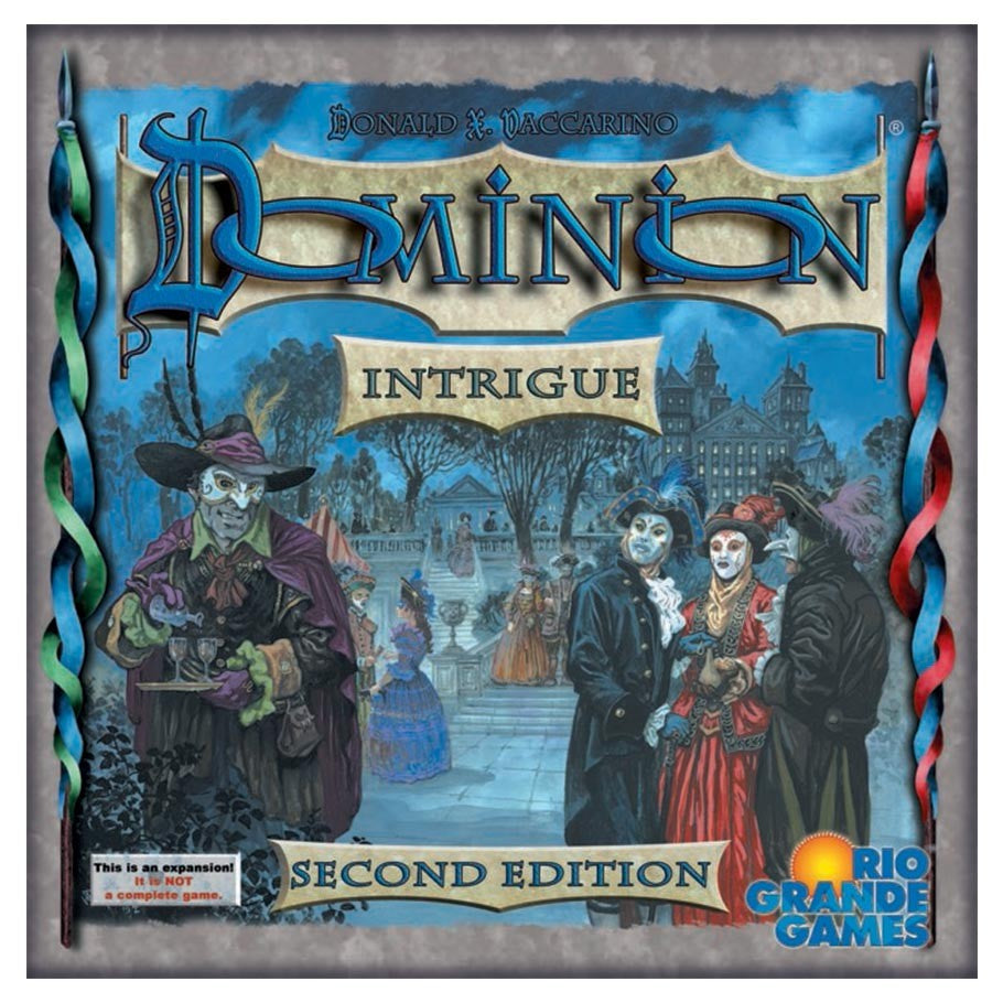Dominion card game expansion Intrigue box cover