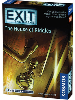 Exit House of Riddles board game box cover