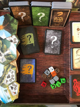 Load image into Gallery viewer, Robinson Crusoe board game components cards locations dice
