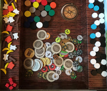 Load image into Gallery viewer, Robinson Crusoe board game components tokens