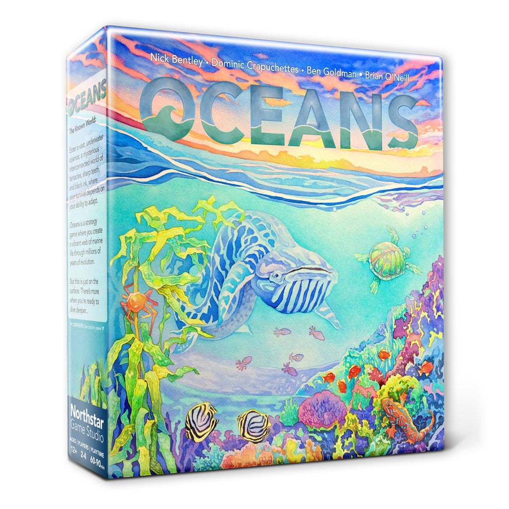 Oceans Evolution Series board game box cover