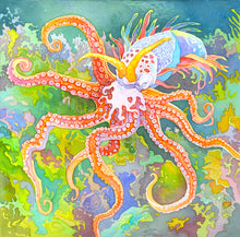 Load image into Gallery viewer, Oceans game octopus art