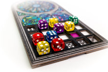 Load image into Gallery viewer, Sagrada board game game board with dice