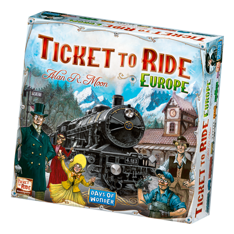 Ticket to Ride Europe board game box cover