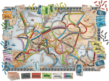 Load image into Gallery viewer, Ticket to Ride Europe board game board active play