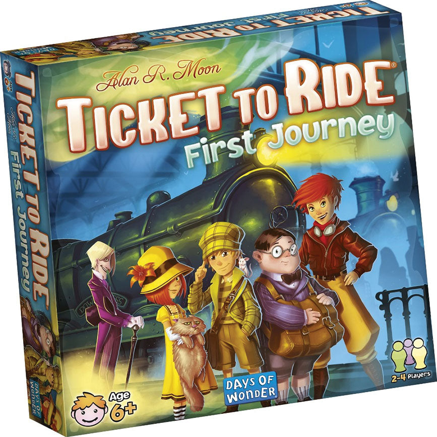 Ticket to Ride First Journey game box cover