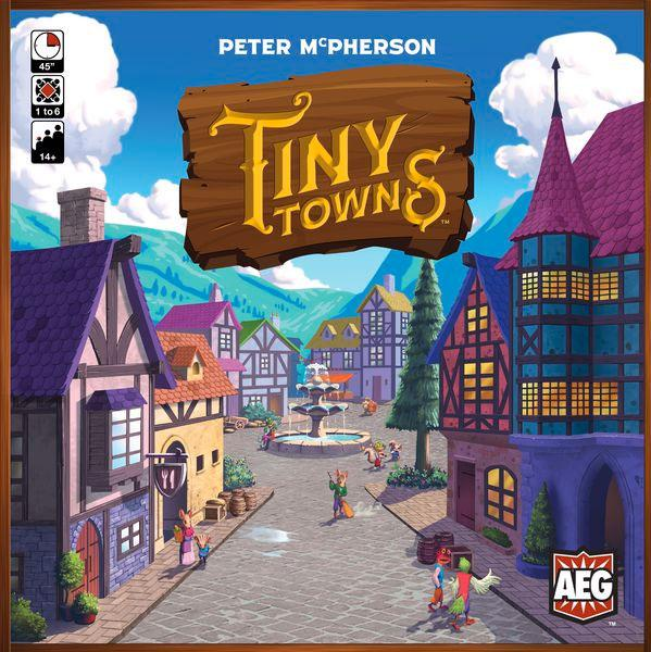 Tiny Towns board game box cover