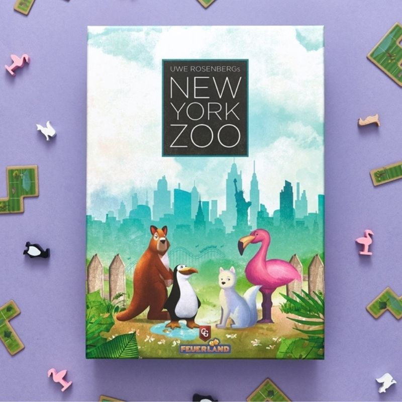 New York Zoo board game box cover