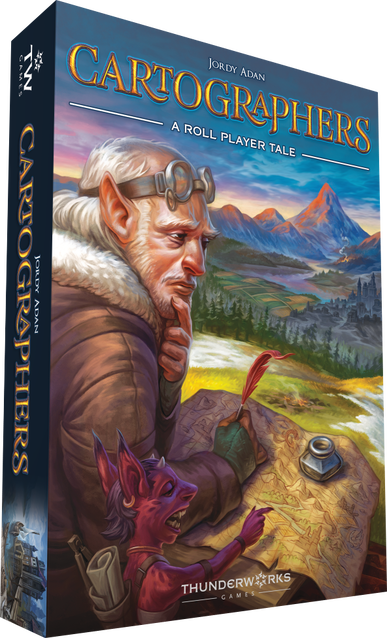 Cartographers A Roll Player Tale board game box cover