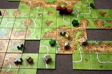 Load image into Gallery viewer, Carcassonne board game shot with active playing pieces