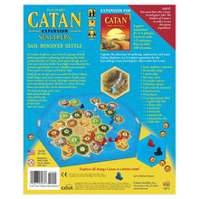 Load image into Gallery viewer, Catan Expansion Seafarers board game box cover back