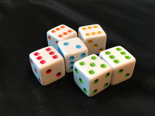 Load image into Gallery viewer, Boards Edge Games Party Pack Component - colored dice