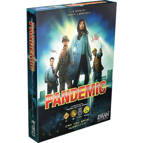 Pandemic board game box cover