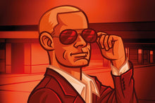 Load image into Gallery viewer, Codenames board game spy token red male spy