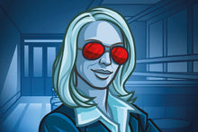 Load image into Gallery viewer, Codenames board game token blue team female spy
