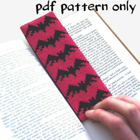 Cross Stitch PDF Pattern - Bats Bookmark