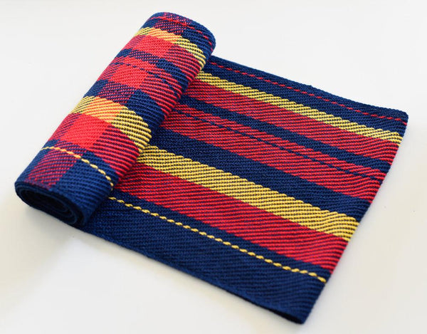 Handwoven Cotton Football Scarf - Adelaide Crows - Threefold Designs