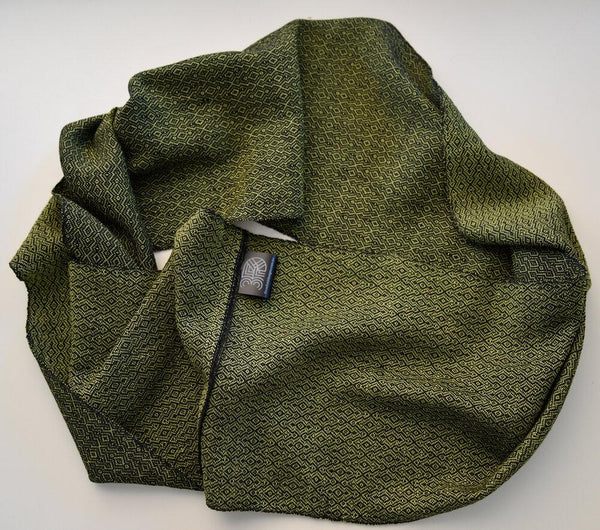 Handwoven Scarf - Luxe - Chartreuse Overground - Threefold Designs