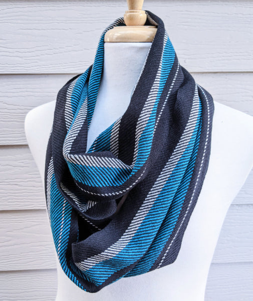 Handwoven Cotton Football Scarf - Port Adelaide