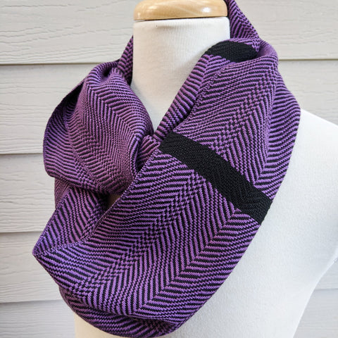 Handwoven Scarf - Classic Purple Cascade - Threefold Designs